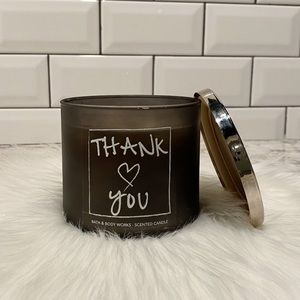 Bath and Body Works Thank You Candle 3 Wick